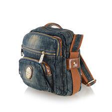 Women Casual Fashion Denim Shoulder Bag Jean Purse Crossbody Messenger Bags