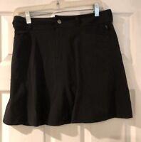 L.L Bean Women's Athletic Fitness Golf Tennis Walking Skort Skirt Black Size 4