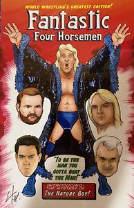"""WWE/WCW - Fantastic Four Horsemen 11"""" x 17"""" Poster Art Reprint"""