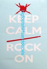 2 Color Decal Keep Calm And Rock On Red Drumstick Hand Bolts Car Truck Sticker A