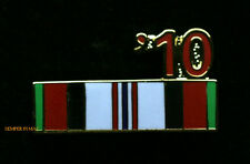 OEF AFGHANISTAN 10 SERVICE RIBBON HAT PIN US ARMY MARINES NAVY AIR FORCE USCG