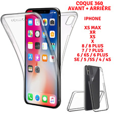 Coque Integrale 360 Protection Silicone Avant+Arriere iPhone 11 XS MAX X XR 8 7