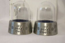 """Baby's First Gifts """"My First Tooth and Curl Domes"""" Pewter Finish New in Box"""