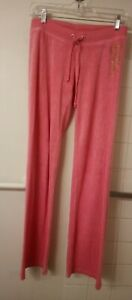 Juicy Couture Track Pants SZ P/S  Hot Pink Terry cloth Clueless