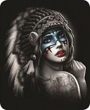 Queen Indian Princess Native American Mink Faux Fur Fleece Blanket Luxury Plush