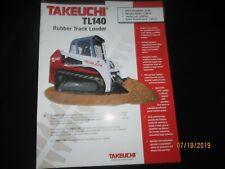 TAKEUCHI TL 140 Rubber Track Loader Brochure Factory Original OEM 2004