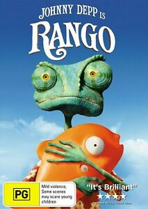 Rango (DVD)   Johnny Depp -   Region 4 -    New and Sealed