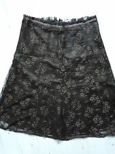 Women's H & M lace brown color  skirt size 8 BNWOT