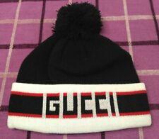 Black GG1 Cap Beanie Hat Mens Women Medium Size