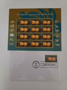 US 2011 CHINESE LUNAR NEW YEAR OF THE RABBIT 12 FOREVER STAMP SHEET & FDC