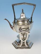 Atq. Derby International Silver Plate Tilting Teapot Tea Hammered Arts & Crafts