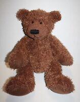 "Russ Berrie Teddy Bear PHILPOT 14"" Brown Shaggy Plush Soft Toy Stuffed Animal"