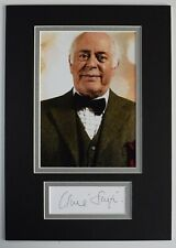 More details for clive swift signed autograph a4 photo display doctor who dr tv aftal coa