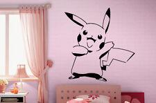 Pikachu pokemon Autocollant Vinyle Art Mur Autocollant Amovible personnage de dessin animé capture