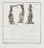J.DEMUS(*1959), Erster Merseburger Zauberspruch, op. 247, 1996, Radierung