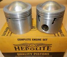 """1959-ONLY Matchless G12 650cc NOS 72mm +.020"""" Hepolite #15036 pistons + pins -85"""
