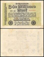 Germany 10 Million Mark, 1923, P-106, Circulated, Used