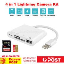 4in1 OTG Lightning Camera Connection Kit 8 Pin to USB Adapter SD TF Card Reader