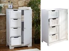 NEW BATHROOM CABINET STORAGE BEDROOM WOODEN CUPBOARD 4 DRAWERS TOWEL ORGANISER