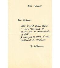 UBAC Raoul. Peintre, graveur, illustrateur. Billet autographe, sans date (Réf. G