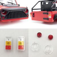 KYX Vorne Hinten Rücklicht Lampenschirm für Wrangler 1/10 RC Crawler Car Shell