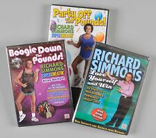 Time Life Richard Simmons Lot of 3 DVDs Party Off Boogie Down Love Yourself Win