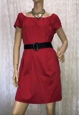 PORTMANS SIZE 14 RED COTTON BLEND DRESS NWOT