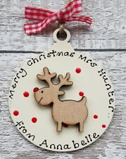 Personalised Christmas gift for Teacher / teaching assistant / Child minder