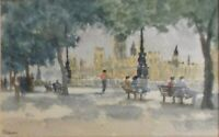 "WATERCOLOR PAINTING - ARTIST ""J. JOHNSTON"" - SIGNED - TITLED & DATED - UNFRAMED"