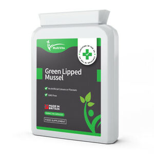 Green Lipped Mussel Capsules 90 x 500mg - Joint & Cartilage Health - UK Made GMP