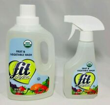 Fit Organic Fruit & Vegetable Produce Wash 12oz Spray Bottle & 32oz Refill