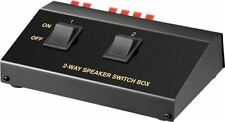 Goobay Speaker switch box black for the connection of up to 2 pairs of speakers