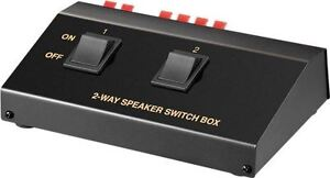 Stereo Speaker 2 Way Switch Box Splitter/Selector for 2 pairs of speakers