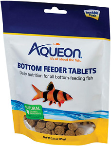 3oz Aqueon Bottom Feeder Tablets, FREE 12-Type Pellet Mix Included