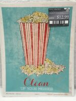 Vintage Movie Popcorn 11x14 Wall Art Print Sign Clean Up Your Mess Theatre Decor
