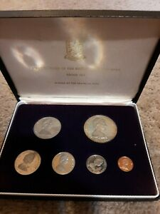 1973 First Coinage Of The British Virgin Islands Proof Set with Sterling Silver