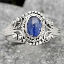 Natural Blue Kyanite - Brazil 925 Sterling Silver Ring s.6 Jewelry 6942