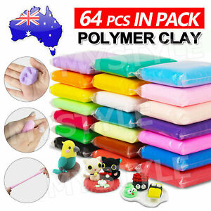 64PCS Polymer Clay Modelling Moulding Sculpey Fimo Block DIY Toys