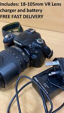 Nikon D90 12.3MP DSLR Camera with 18-105mm vr lens FREE FAST DELIVERY