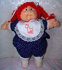 "SUPER RARE 1983 CABBAGE PATCH KIDS 16"" doll with FRECKLES & RED hair #2 COLECO"
