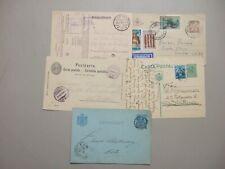 Five old postal stationery :Germany Feldpost,Romania,Swiss,Gr eece,Netherlands