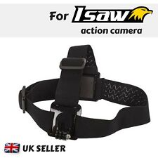 Adjustable Head Strap Mount for Action Cam Isaw Edge A3 Extreme Advance Air