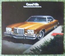 PONTIAC GRAND VILLE CAR SALES BROCHURE 1974 (USA PRINT)