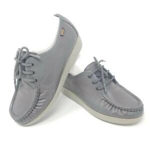 SAS Siesta Womens 6 WW Comfort Shoes Lace-Up USA Soft Step Heel Gray Nursing