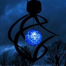 WindSpinner Led Solar Powered Garden Light Outdoor Courtyard Hanging Spiral Lamp