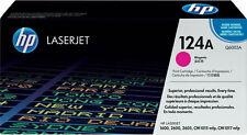 1x HP Color LaserJet tóner 124a 1600 2600n 2605 DN dtn cm 1015 1017mfp cartucho