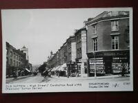 POSTCARD RP LONDON OLD SUTTON HIGH ST / CARSHALTON ROAD C1913