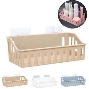 Bathroom Storage Basket Holder Shelf Shower Shampoo Caddy Suction Cup Holder
