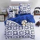 Flower White Single Double Queen King Size Bed Set Pillowcases Quilt Duvet Cover