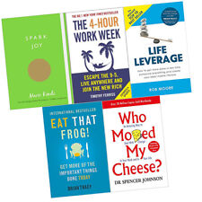 Who Moved My Cheese,Spark Joy,4-Hour Work Week 5 Books Collection Set Brand New
